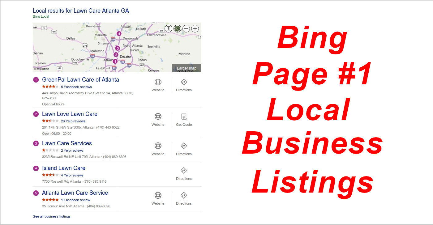 Bing Maps Local Business Listings