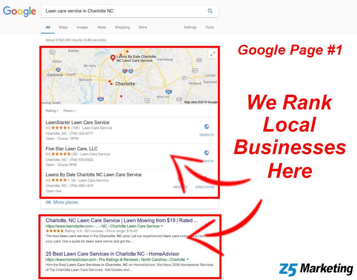 Example Of Search Engine Optimization In Charlotte NC