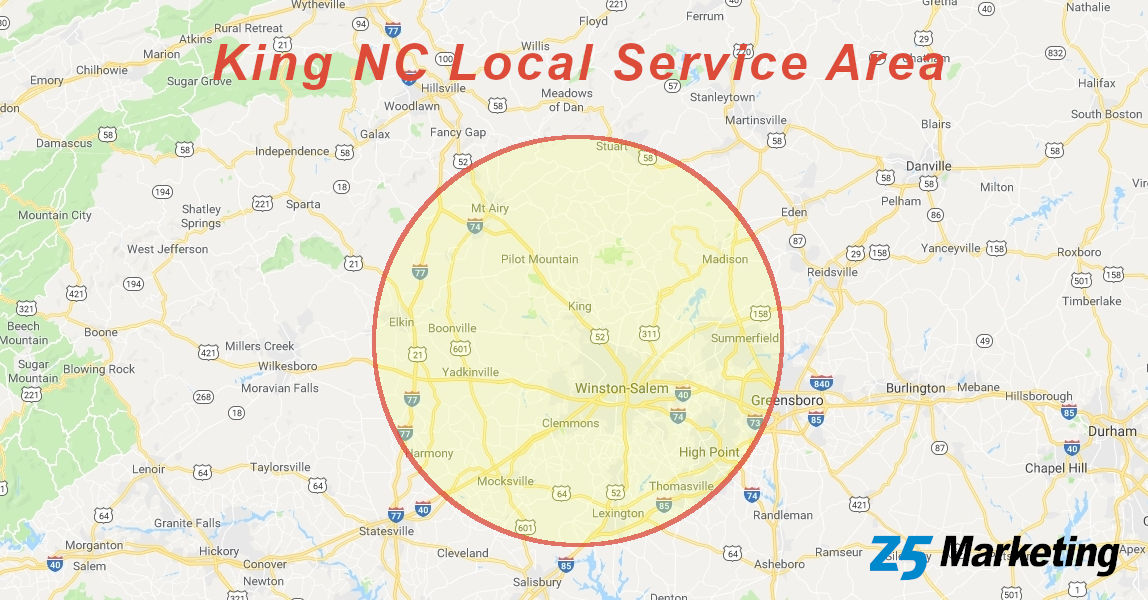 King NC Local Service Area